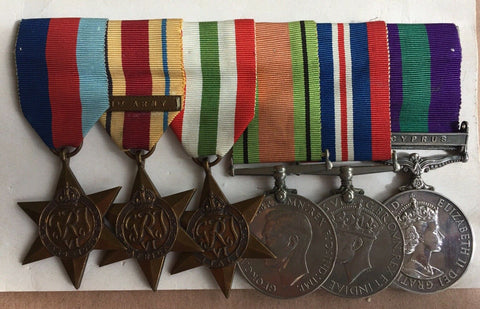 Medals WW11/Cyprus. British Group Of 6 To W. Trevor W.O.CL.1 Royal Airforce.