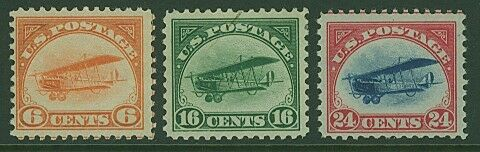 USA Scott# C1-C3  Air post Set of 3 Stamps MLH