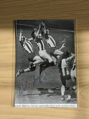 Malcolm Blight North Melbourne Kangaroos Hand Signed Picture