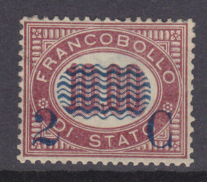 Italy SG 30 1878 2c on 10l. red Mint