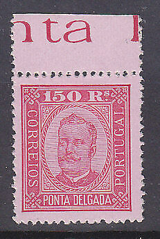 Pont Delgada Portuguese Colonies Portugal SG 28 150r. red on pink MUH