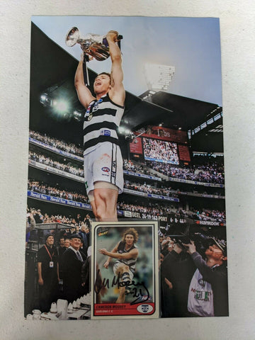 AFL Select Tradition Cameron Mooney Hand Signed Card & Premiership Picture