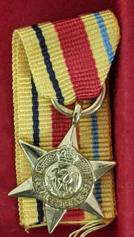 WW2 Miniature Africa Star Replica Medal Inc Ribbon