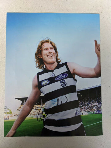 AFL Football Picture Cameron Ling Hand Signed Geelong