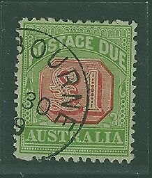 Australia Postage Due SG D73 £1 One Pound rosine and yellow-green Superb used