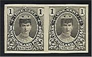 Newfoundland Canada SG 117  1c Queen Mary Proof pair