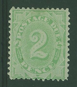 Australia postage dues SG D55  2d dull green MLH