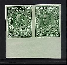 Newfoundland Canada SG 223 2c King George V Proof pair