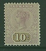 Tasmania Australian States SG 258 10/-  mauve and brown Tablet MLH