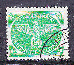 Germany Christmas Parcel Post green Michel 4 Fine used