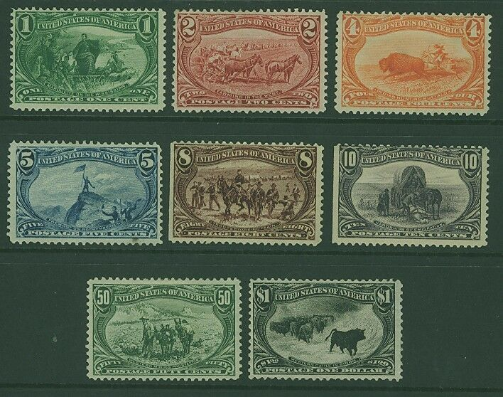 USA Scott# 285-92 Trans-Mississippi Exposition Set to $1 MLH