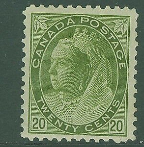 Canada SG 165 1897 20c olive-green Queen Victoria Mint hinged