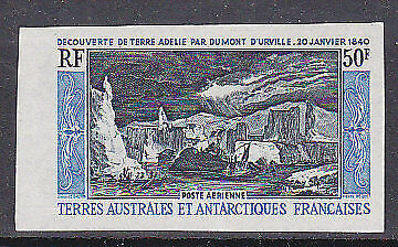 French Antarctic Territory TAAF SG 38 Air Discovery of Adelie Land Imperforate