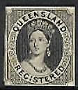 Queensland Australian States Registere Chalon black Plate Proof similar to SG 20