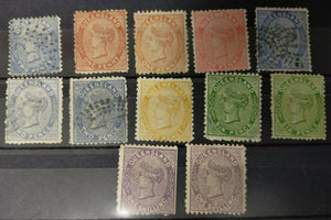 Queensland Australian States 1879 Watermark 1d, 2d, 4d, 6d and 1/- SG134-145 M