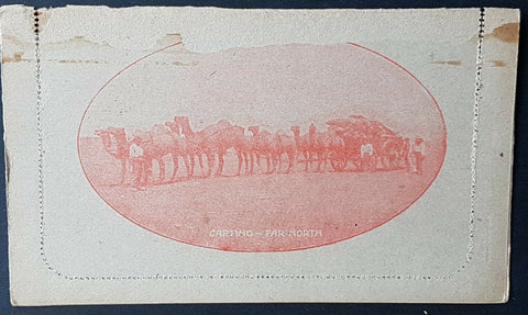 Australia Letter card 2d KGV Carting Far North LC48 -29 camels damaged so cheap