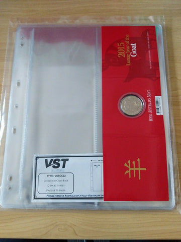 10 X 2 Pocket Coin Page VSTCC02 Packet of 10 (100 pages)