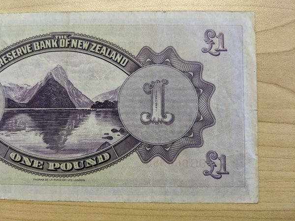 1934 The Reserve Bank of New Zealand One Pound £1 Maori King Tawhiao Banknote