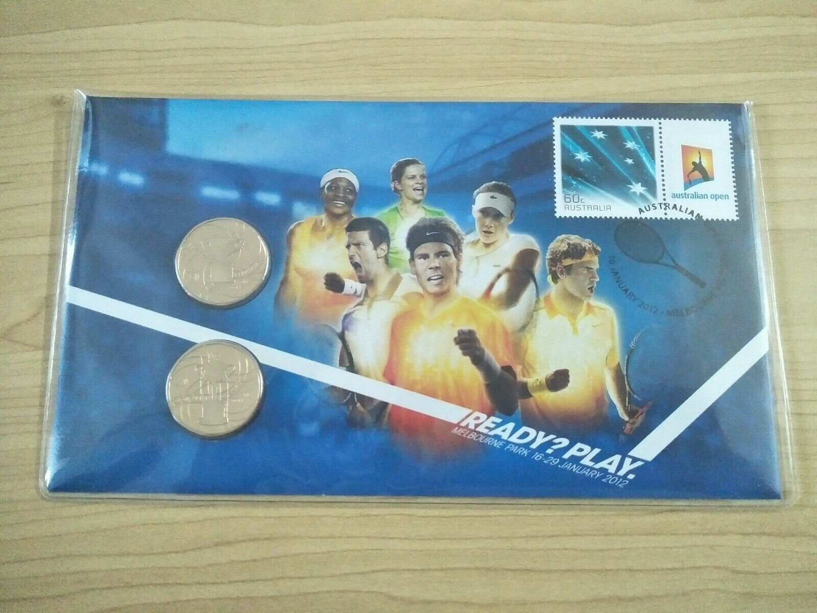 2012 $1 Australian Open Limited Edition PNC  750/15000