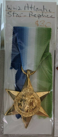 WW2 Atlantic Star Replica Medal