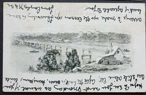 NSW 1d Arms Post Card Greetings from Iron Cove Bridge Sydney HG 19 a used