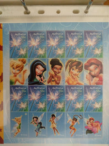 Australia Post 55c Souvenir Sheet - Disney Fairies Tinker bell