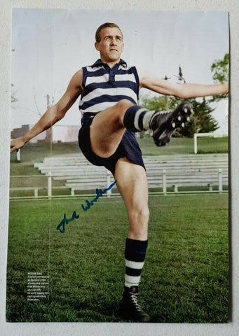 VFL Geelong Football Club Fred Wooller Hand Signed Picture