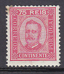 Continente, Portuguese Colonies, Portugal, 75r red Michel 72ya Perf 11½ Mint