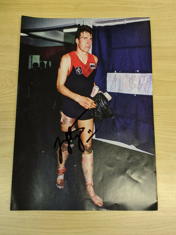 VFL Football Picture Hand Signed Jim Stynes Melbourne