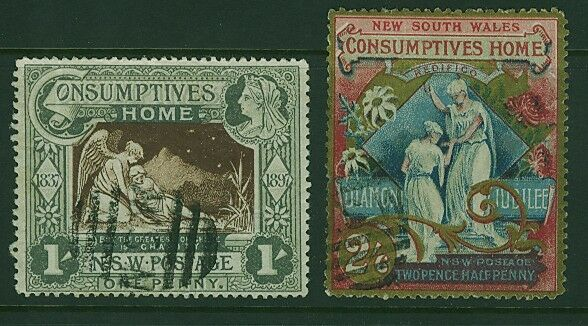 NSW Australian States SG 280/281 Tuberculosis Hospital Charity set Used