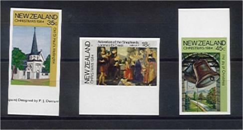 NZ New Zealand SG 1349-5 1984 Christmas imperforate set MUH