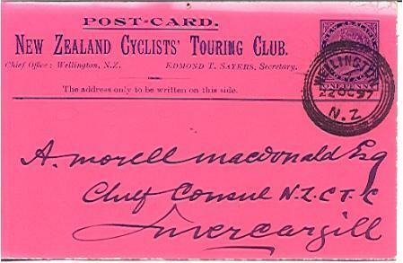 NZ New Zealand Cyclists' Touring Club deep pink & black printed to private orde