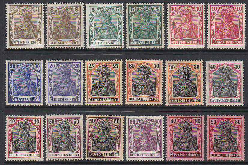 Germany SG   82-92 1902 Germania with most shades MLH