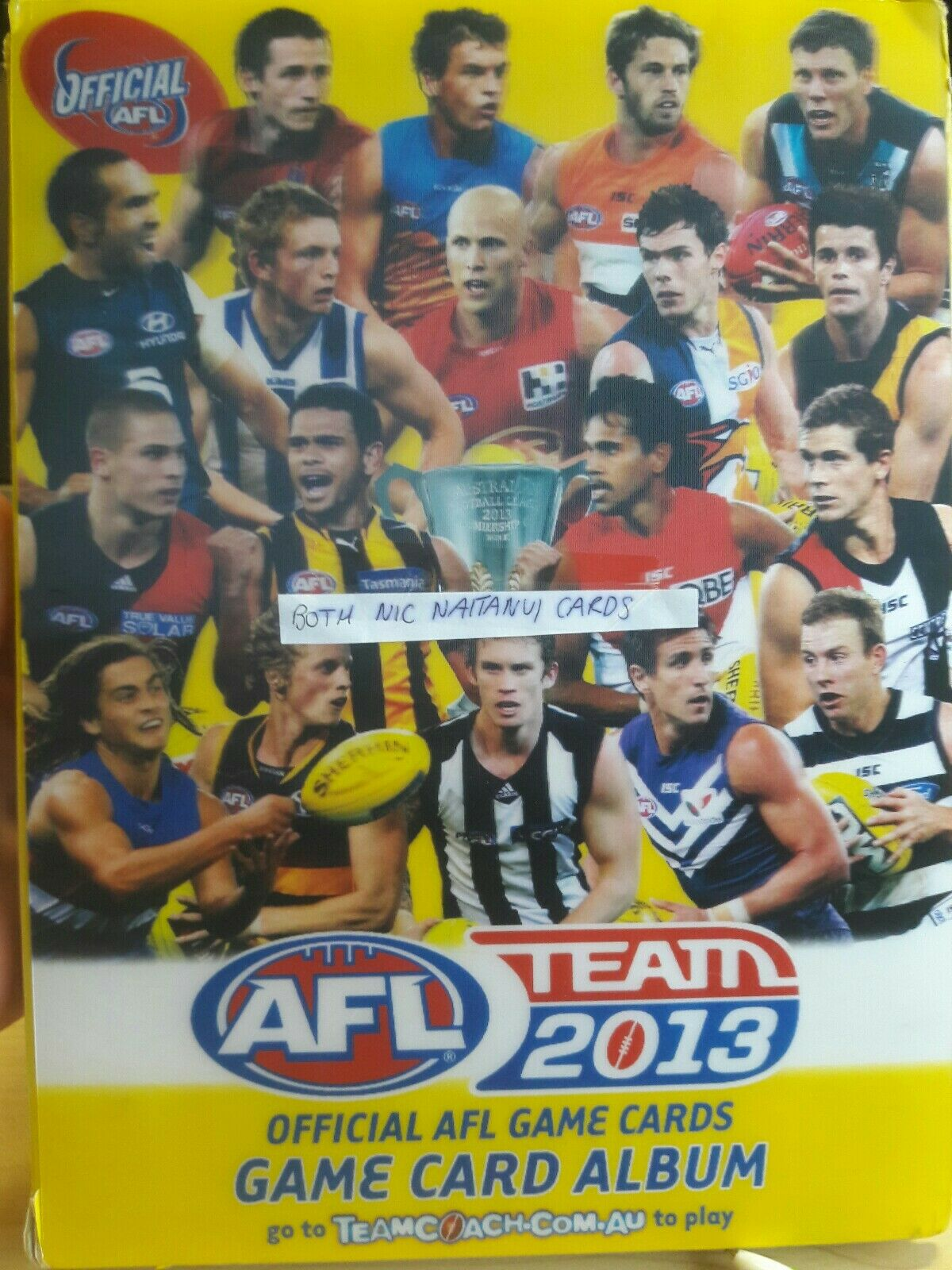 Complete 2013 Team coach Common Set With Both Nic Naitanui's