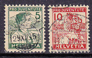 Switzerland 1915 Pro Juventute SG J1a-2  Michel 128/9  Children's Fund  Used