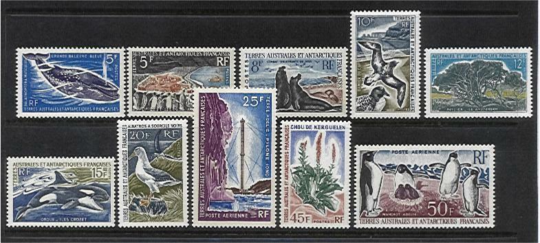 French Antarctic Territory TAAF SG 26/34 Definitive set MUH