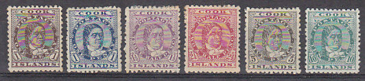 Cook Islands Pacific Islands New Zealand SG 5-10 queen Makea Set of 6 Mint