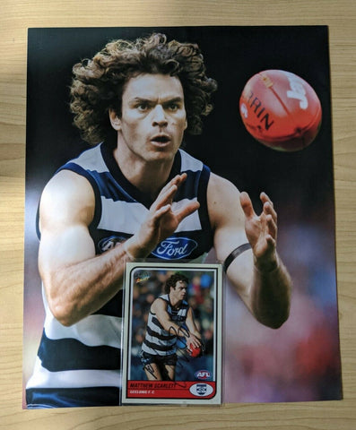 AFL Select Tradition Geelong Matthew Scarlett Hand Signed Card & Picture