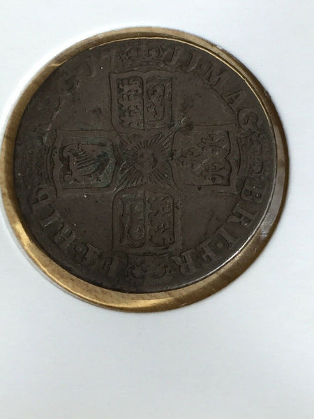 1711 UK Great Britain Queen Anne Shilling Coin