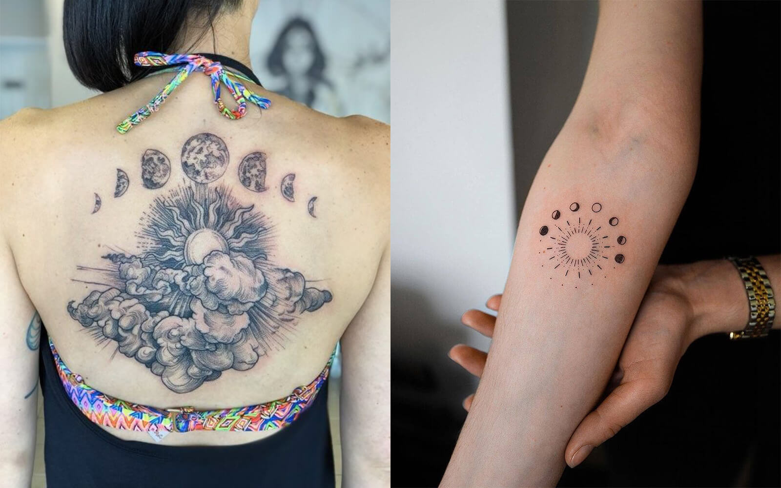 Phases Sun and Moon Tattoo