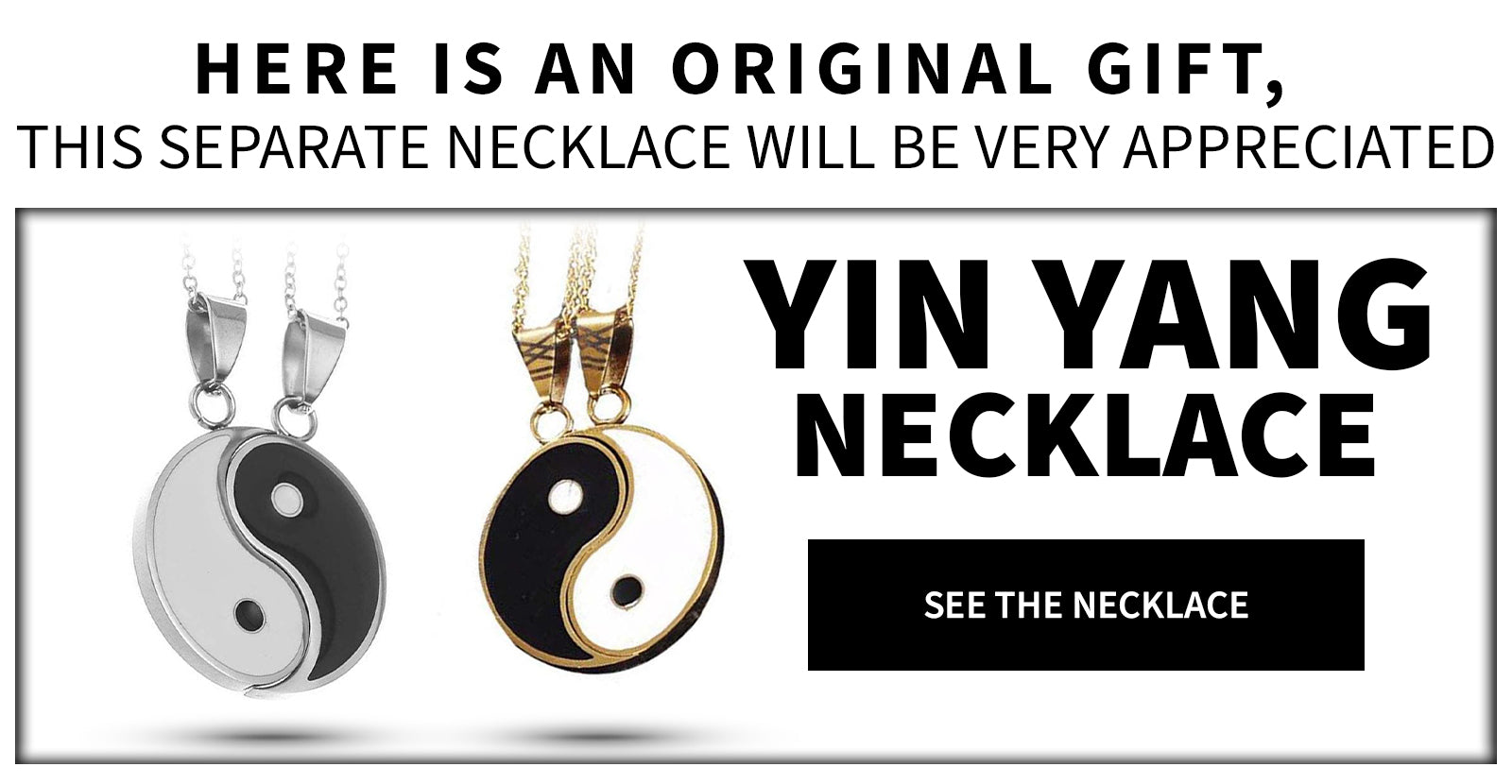 Yin and Yang Necklace 2 Pieces