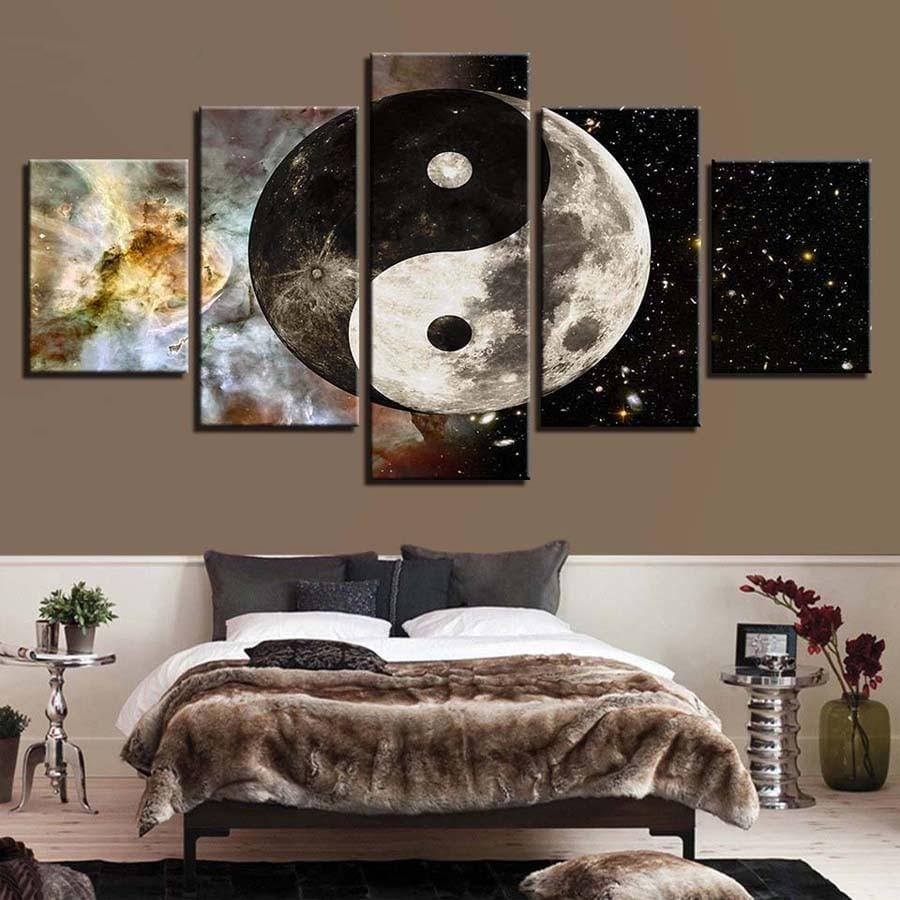 yin yang moon diamond painting