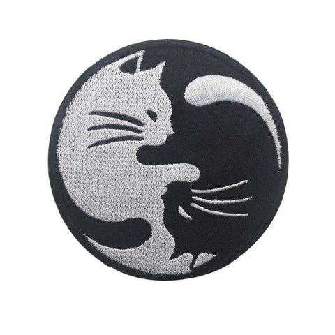 cat yin yang patch