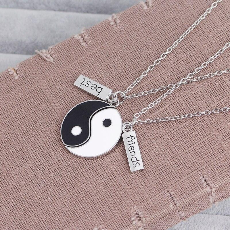 yin and yang best friend necklaces