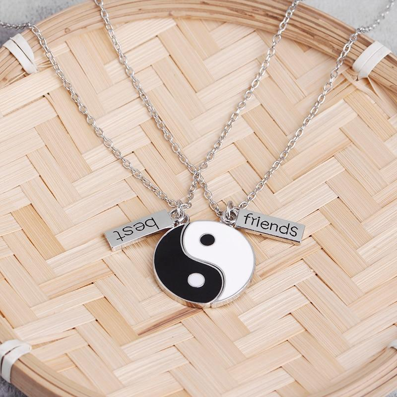 yin yang necklace for best friends