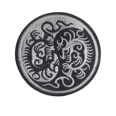 dragon yin yang patch