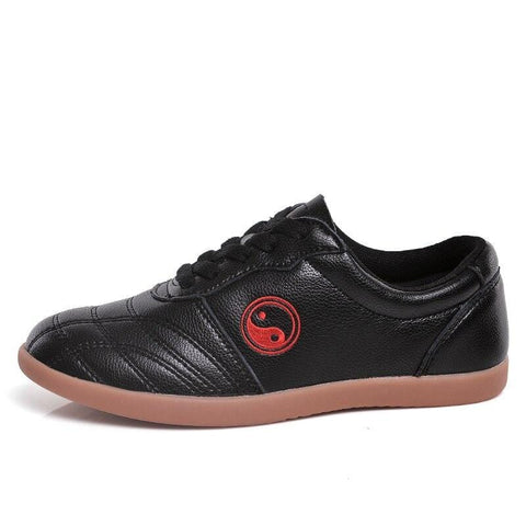 Black Leather Tai Chi Shoes