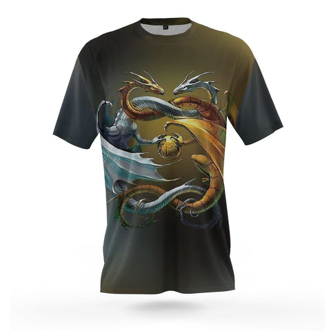 yin yang t shirt dragon