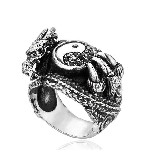yin yang ring dragon