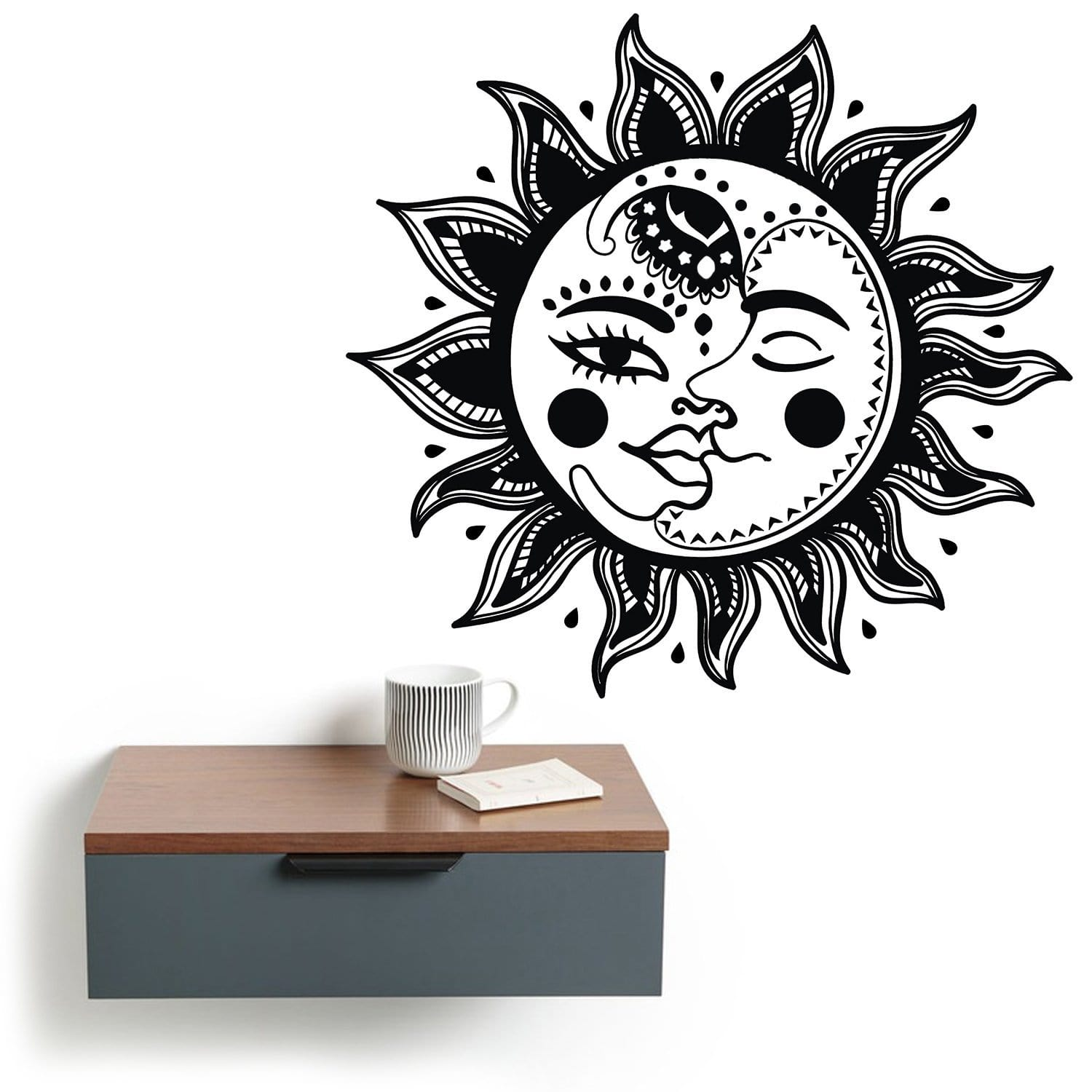 Mexican Sun and Moon Wall Art